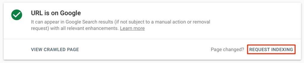 درخواست ایندکس از گوگل